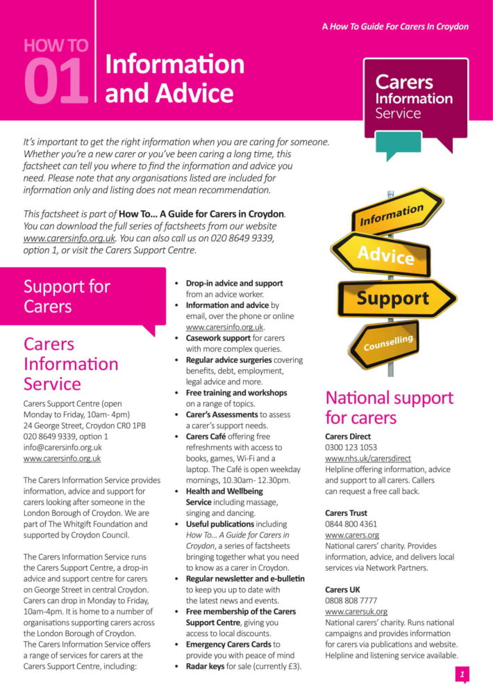 information and advice factsheet image
