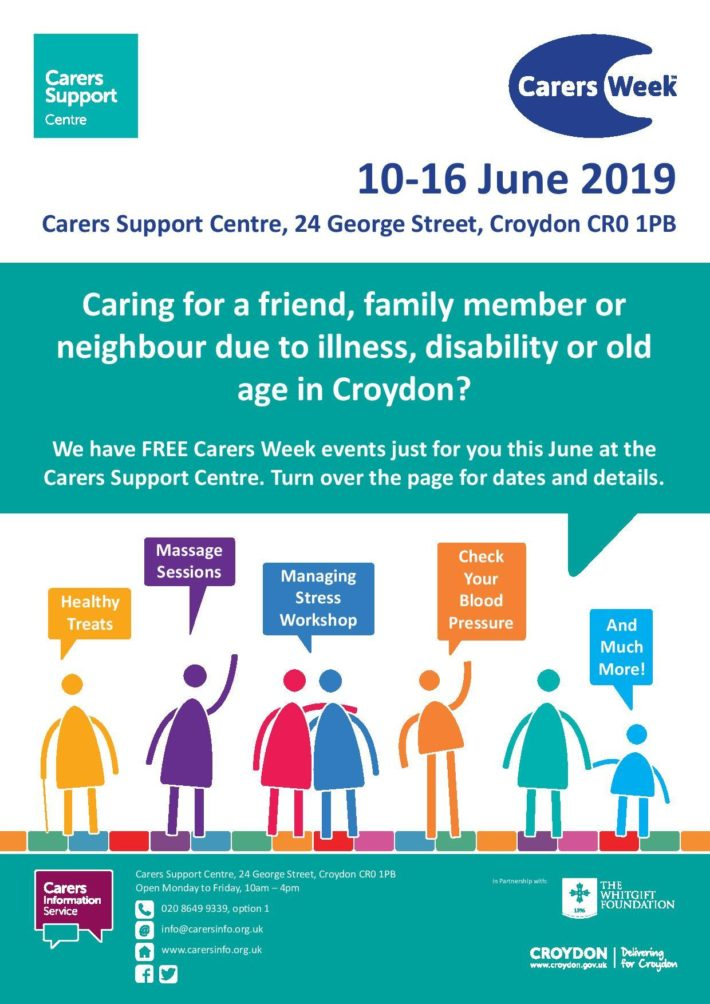 Carers Week 2019: what's on in June for Croydon carers